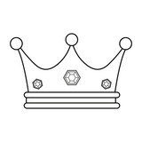 crown jewelry on white background