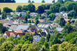 view of village in france, in Sweden Scandinavia North Europe - 227393390