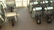 Multiple Wheelbarrows for sale in hardware store