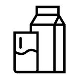 Milk Glass Breakfast Morning Drink vector icon - 227401341