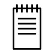 Notes Education Science School Physics vector icon