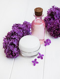 Spa concept with lilac flowers - 227413334
