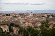 Aerial panorama of Rome from Janiculum terrace