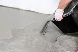 Fill screed floor repair and furnish, shallow dof - 227417736