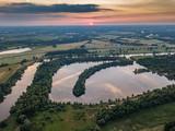 Blizanowice, lake bajkal aerial view