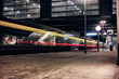 Berlin Train Public Transport fast light time exposure reflexion east cross beer