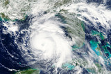 Hurricane Michael heading towards Florida in October 2018 - Elements of this image furnished by NASA  - 227437942