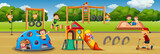 Children playing at playground - 227447112