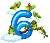 Six bird on sky - 227449792