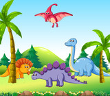 Different dinosaur in nature - 227449997
