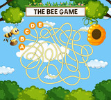 The bee maze game template - 227450187