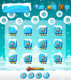 Winter outdoor game template - 227450557