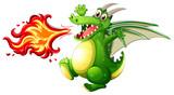A green dragon fire - 227450578