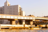 Landscape See View of sumida river viewpoint and boat in tokyo - 227459972
