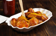 Leinwandbild Motiv Currywurst