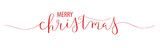 MERRY CHRISTMAS brush calligraphy banner - 227466536