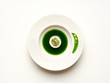 white, isolated, object, glass, circle, green, cd, round,