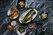 mussels with vegetables - 227470907