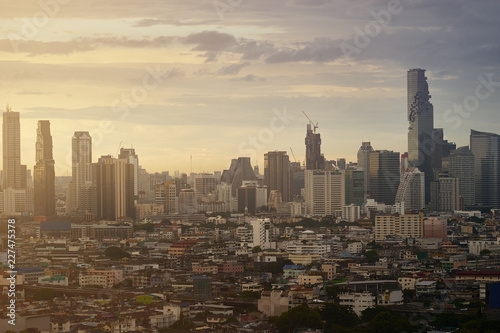 cityscape skyline and building metropolis - 227475378