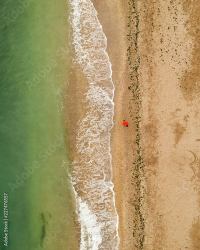 widok na plażę z góry