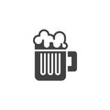 Beer mug vector icon. filled flat sign for mobile concept and web design. Glass of beer simple solid icon. Symbol, logo illustration. Pixel perfect vector graphics - 227480397