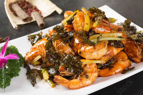 Plate of dressing shrimp - 227484716