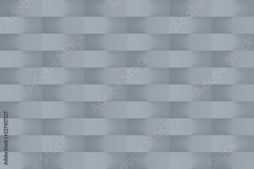 Grey Geometric Abstract Background. 3D Render Background
