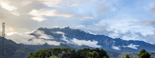 landscape with mountains and clouds - 227503978