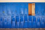 Blue old locker room - 227510556