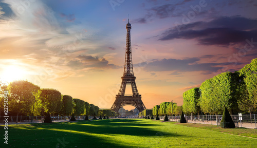 Sunrise and Eiffel Tower - 227513942