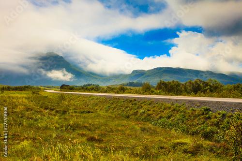 Sticker Gimsoya island landscape Lofoten Norway