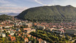 Aerial view of Brasov, tovn in Transylvania, Romania - 227520334