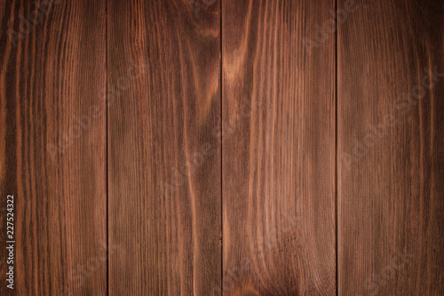 Obraz na płótnie Detailed closeup of brown wood texture background.