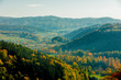 View at mountains and forest on south of Poland. Beskids