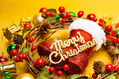 Christmas ornaments concept.