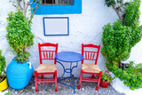 Beautiful street view in Kos Island, Dodecanese, Greece