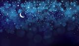 Vector night starry sky background.
