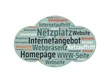 Das Wort - Internetangebot - abgebildet in einer Wortwolke mit zusammenhängenden Wörtern - 227604502
