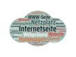 Das Wort - Internetseite - abgebildet in einer Wortwolke mit zusammenhängenden Wörtern - 227604503
