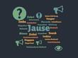 Das Wort - Jause - abgebildet in einer Wortwolke mit zusammenhängenden Wörtern - 227604555