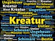 Das Wort - Kreatur - abgebildet in einer Wortwolke mit zusammenhängenden Wörtern - 227604902