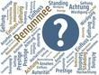 Das Wort - Renommee - abgebildet in einer Wortwolke mit zusammenhängenden Wörtern - 227605533