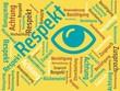 Das Wort - Respekt - abgebildet in einer Wortwolke mit zusammenhängenden Wörtern - 227605537