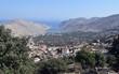 Хarbour. Sea city. Mountain village. Greek island. Greece.Simi Island.Beautiful mountain landscape.    - 227615784