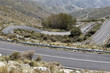 Zigzag road in the mountains in the Spain.