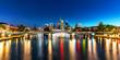 Night panorama of Frankfurt am Main, Germany