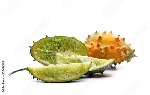 Foto Murales horned melon isolated on white background