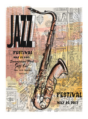 Jazz in New York, poster © Isaxar