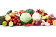 Different fresh vegetables on the table. - 227635753
