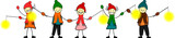 Kinder mit Laternen in der Hand
